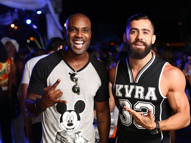 Rafael Zulu e ex-BBB Yuri em festa no Rio (Foto: Marcos Samerson/ Agência We love Photo!/ Divulgação)