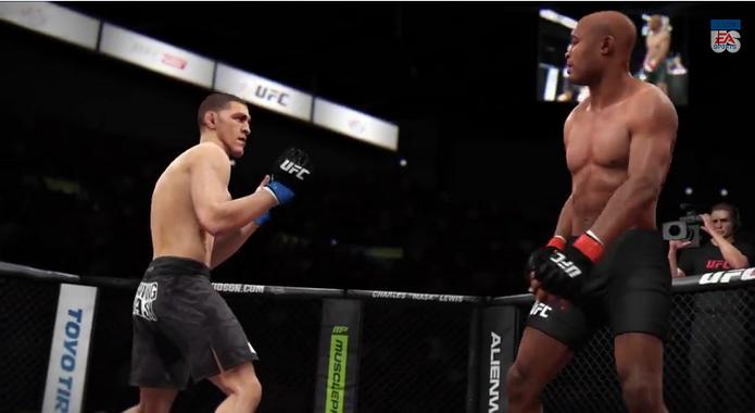 EA Sports UFC: atualização trouxe dois novos lutadores e a possibilidade de realizar a luta Silva vs Diaz. (Foto: Reprodução/YouTube)