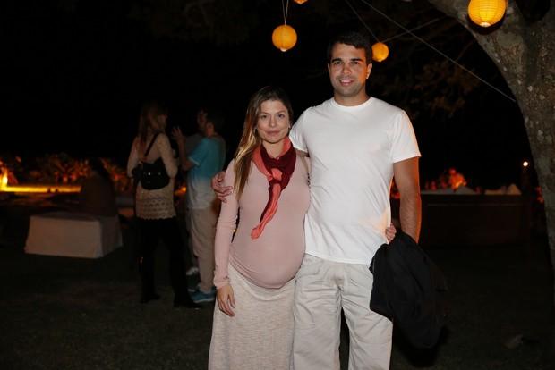 Bárbara Borges e o marido (Foto: Felipe Panfili / AgNews)