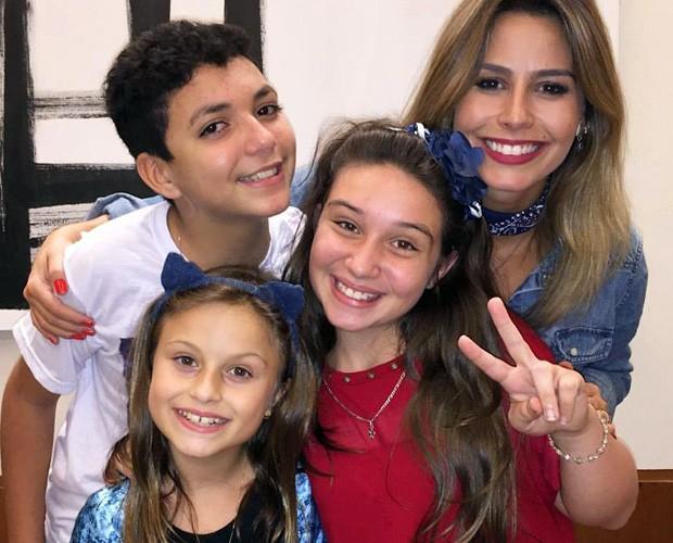 Entre as atrações, os finalistas do The Voice Kids, Wagner Barreto, Rafa Gomes e Pérola Crepaldi (Foto: Reprodução/ Arquivo Pessoal)