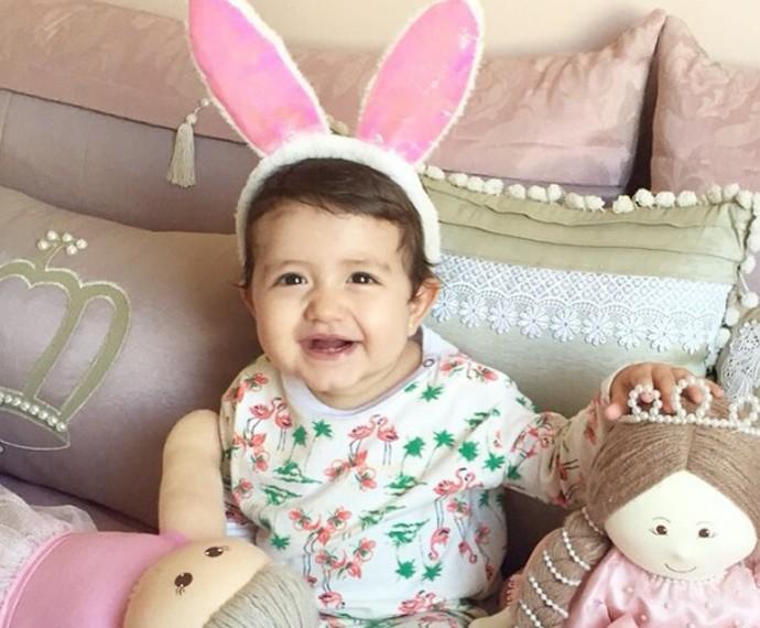 Giovanna completa dez meses e é só sorrisos (Foto: Arquivo Pessoal)