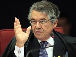 O ministro Marco Aurélio Mello no STF (Foto: Carlos Humberto/SCO/STF)