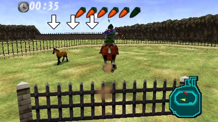 Após vencer a corrida é possível pular estas cercas ao redor do rancho para fugir (Foto: Reprodução/Rafael Monteiro)