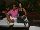 Grávida, Guilhermina Guinle curte festa com o marido em Búzios