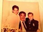 Irmão de Dado Dolabella posta foto antiga com o ator e o pai