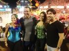 Susana Vieira e namorado assistem a festa do boi no Amazonas