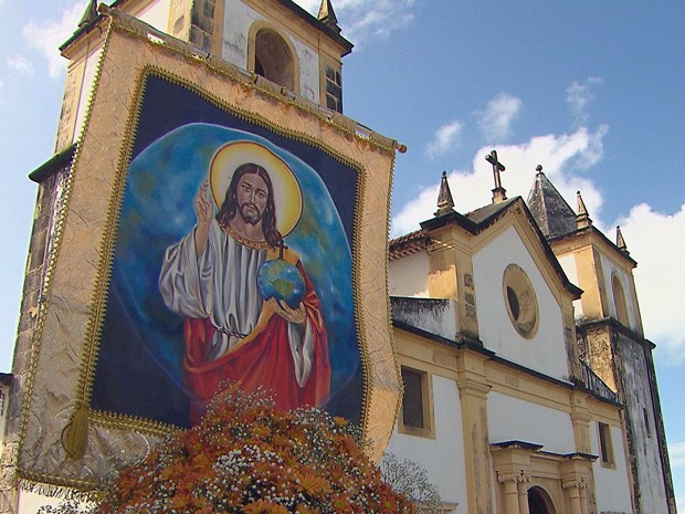 Carreata deu início às celebrações de São Salvador do Mundo em Olinda (Foto: Reprodução / TV Globo)