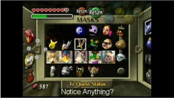 Máscaras em Majoras Mask guardam mais um segredo (Foto: Reprodução / eeggs.com)
