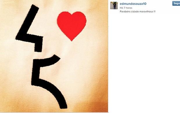 Edmundo homenagem ao Rio no Instagram