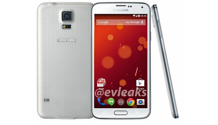 Galaxy S5 também vai ganhar edição Google Play com Android inalterado (Foto: Reprodução/Evleaks)