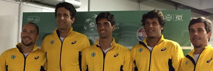 Time do Brasil Copa Davis (Foto: Thiago Quintella)