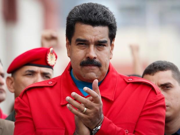 O presidente da Venezuela, Nicolás Maduro, em imagem de sexta-feira (6) (Foto: Carlos Garcia Rawlins/Reuters)