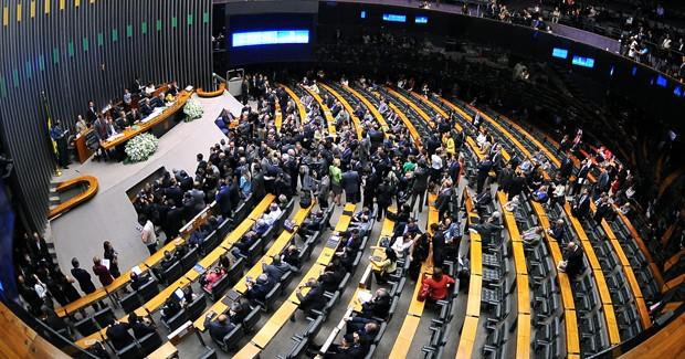 Plenário da Câmara, em sessão conjunta do Congresso na última quinta (2) na abertura dos trabalhos legislativos de 2012 (Foto: Rodolfo Stuckert/Ag. Câmara)