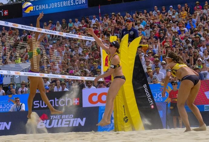 Larissa e Talita são derrotadas para alemãs no vôlei de praia e ficam com a prata (Foto: Daniel Grund/Beach Majors)