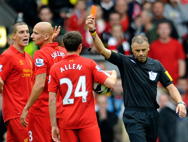 Shelvey liverpool x  manchester united (Foto: AP)