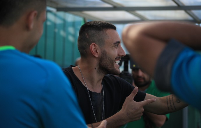 Alan Ruschel sorridente Arena Condá (Foto: Sirli Freitas / Chapecoense)
