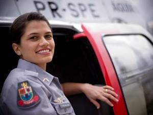 Lara passou em primeiro lugar no concurso, que tinha oito vagas (Foto: Raul Zito/G1)