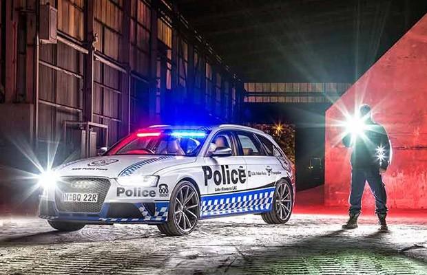 Audi RS4 usada pela polícia de Nova Gales do Sul, na Austrália (Foto: Divulgação)