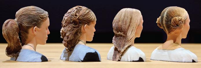 Miniaturas em 3D com cabelos bem realistas (Foto: Divulgação/Disney) (Foto: Miniaturas em 3D com cabelos bem realistas (Foto: Divulgação/Disney))