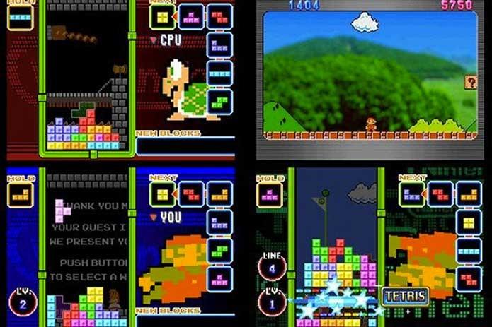Tetris sempre tem crossovers com Mario (Foto: Divulgação/Nintendo)