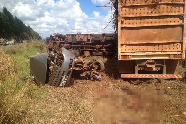 Acidente mata 5 pessoas da mesma família na GO-156, em Itaberaí (Foto: Neywerton dos Santos Barros/Portal Itaberaí)
