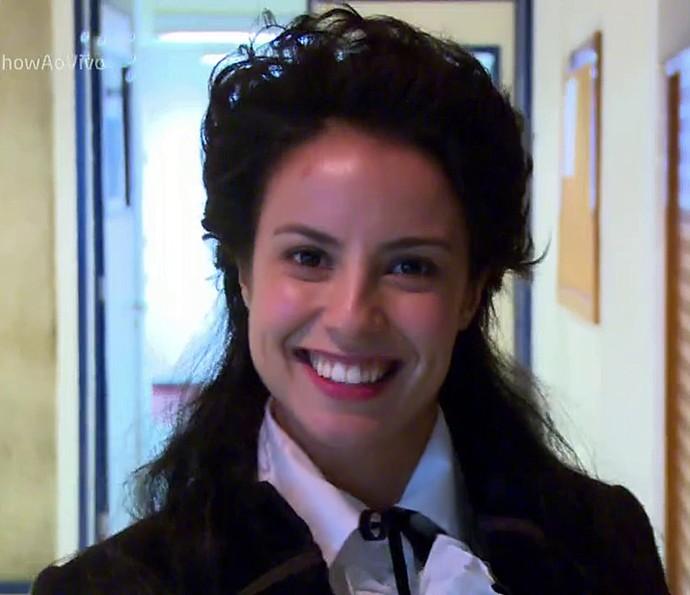 Andreia Horta conta como foi seu treinamento de esgrima (Foto: Vídeo Show / Gshow)