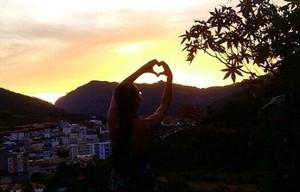 Pôr do Sol de Venda Nova do Imigrante (Foto: Sidneia Dias)