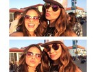 Bruna Marquezine anda de skate com Stéphannie Oliveira