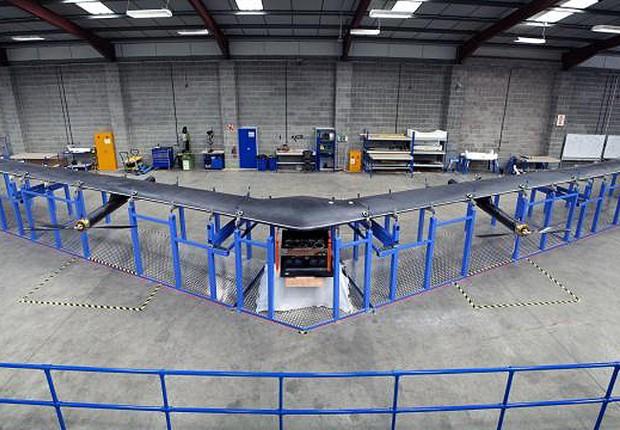 Facebook construiu drone com o qual levará internet a áreas remotas