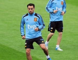 Xavi treino Espanha (Foto: Agencia AP)