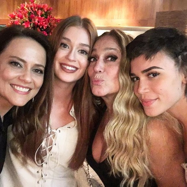 Vivianne Pasmanter, Marina Ruy Barbosa, Susana Vieira e Carla Salle em festa no Rio (Foto: Instagram/ Reprodução)