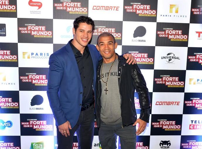 José Loreto e José Aldo (Foto: André Durão)