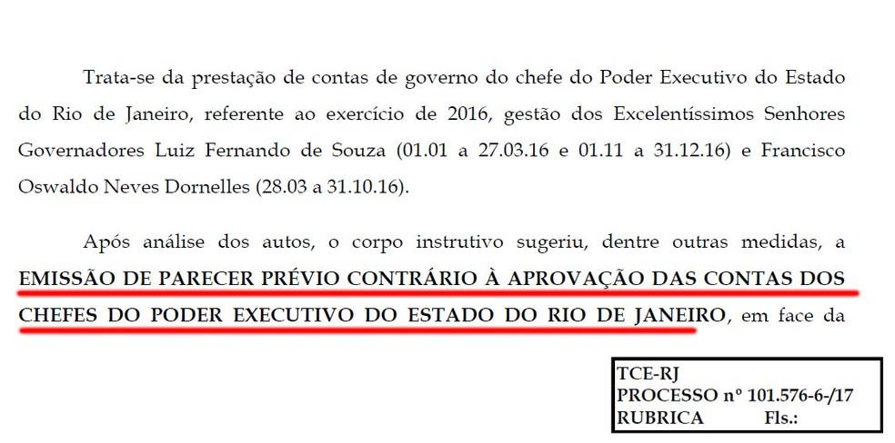 Corpo técnico do TCE-RJ recomenda rejeição das contas de Pezão e de Dornelles de 2016 por descumprir mínimo constitucional da Saúde (Foto: Reprodução)
