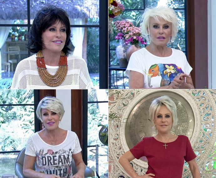 Confira os diferentes cabelos usados por Ana Maria durante a semana (Foto: Mais Você/TV Globo)