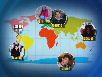 O inglês pode variar de acordo com o país do mundo (Foto: Reprodução / TV Globo)