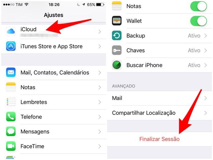 Abra as configurações do iCloud (Foto: Reprodução/Lucas Mendes)
