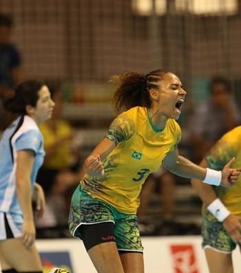 Alexandra Nascimento handebol Brasil Uruguai Pan Toronto (Foto: Divulgação/CBHb)