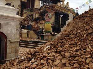 Gerente de agência de turismo registrou estragos provocados pelo terremoto em Katmandu, capital do Nepal (Foto: Fábio Thimoteo / Arquivo Pessoal)