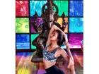 Irina Shaik, a namorada de Cristiano Ronaldo, faz ioga para manter a forma