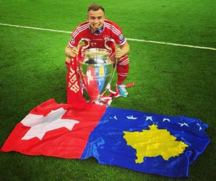 Shaqiri Bayern de Munique Kosovo (Foto: Reprodução/Facebook)