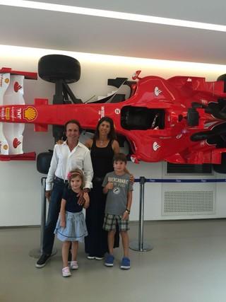 Emerson Fittipaldi, Rossana e os filhos, Vitória e Emerson (Foto: Arquivo Pessoal)