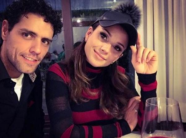 Paula Fernandes e novo namorado Thiago Arancam (Foto: Reprodução Instagram)