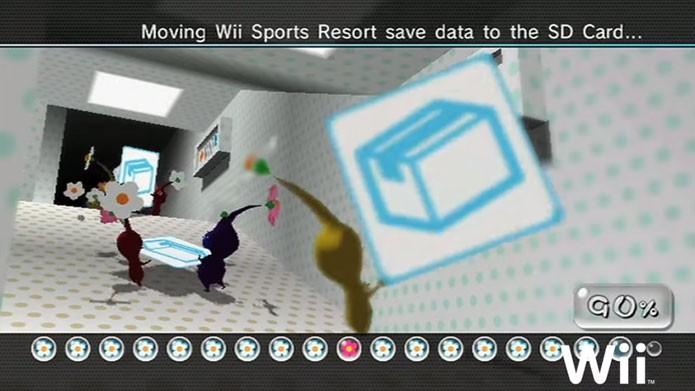 Coloque o cartão SD no Wii U e espere o processo ser concluído (Foto: Nintendo)