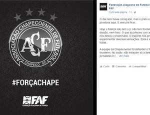 Nota de pesar - FAF (Foto: FAF/Divulgação)