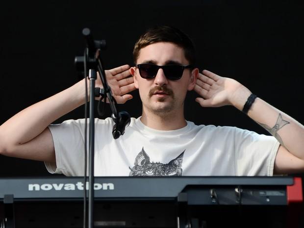 Gus Unger-Hamilton, da banda Alt-J, que se apresenta no palco principal do Lollapalooza (Foto: Flavio Moraes/G1)