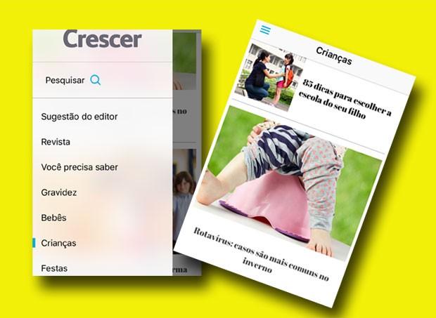 Aplicativo da CRESCER: nosso conteúdo no seu celular (Foto: Crescer/ Editora Globo)