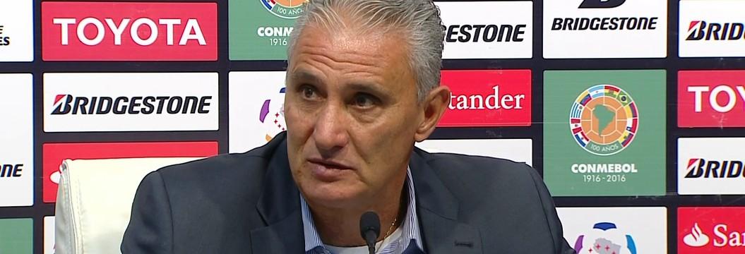 Tite fala sobre o empate do Corinthians com o Nacional, no Uruguai, pela Libertadores