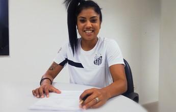 """Maurine volta ao time feminino do Santos: """"Tenho tudo para ajudar"""""""