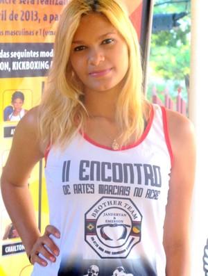 Luana Freire, ring girl (Foto: Nathacha Albuquerque)