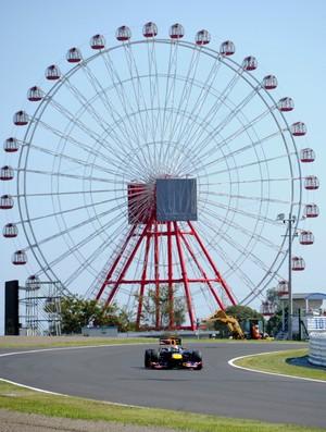 Sebastian Vettel  - treino livre para o GP do Japão (Foto: AFP)